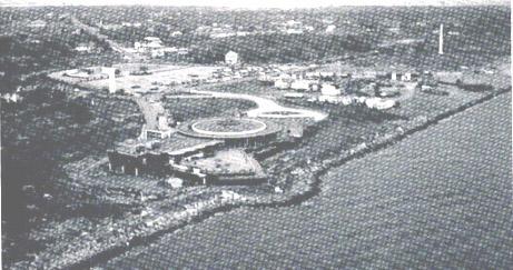 Aerial image of Sylvan Beach Pavilion
