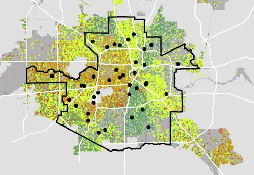 Houston isd map