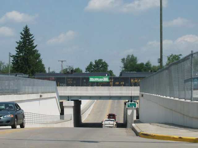 Herb Kleeman Underpass in Garrett.