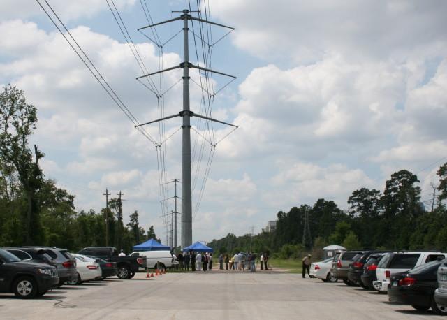 CenterPoint utility ROW at Memorial Park. Photo: Amanda Li Chang.