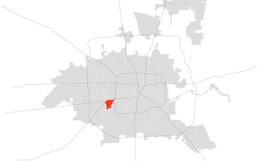 Location of Gulfton.