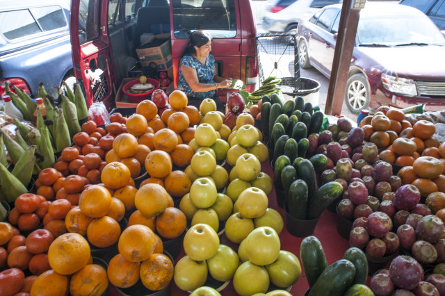 Fruit stand on Airline Drive. Photo: Paul Hester.