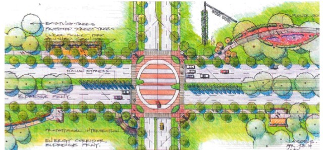 Intersection Plan. Courtesy Energy Corridor District.