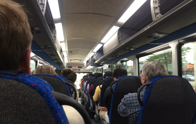 A packed 246 Bay Area commuter bus. All photos: Raj Mankad.