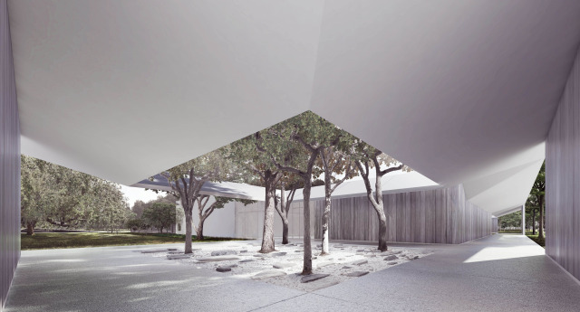 Menil Drawing Institute West Courtyard
