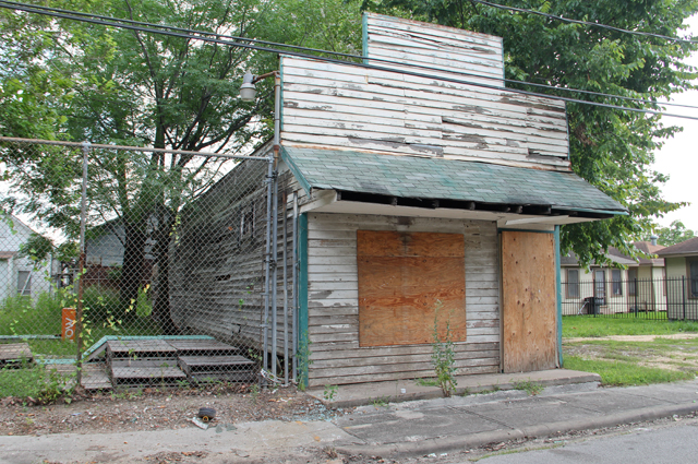 Former plumbing supply store near Lyons Avenue. Photo: Mary Beth Woiccak.