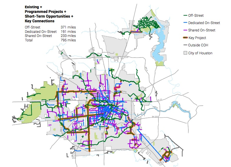 Houstons Draft Bike Plan Lays Out Ambitious Vision for Citys