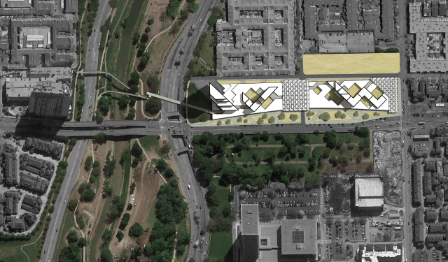 """Aerial view of proposal for """"Integrated Urbanism."""" Courtesy: Gensler."""