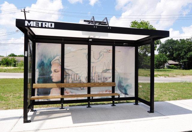 Leadership Houston-funded bus shelter. Courtesy photo.