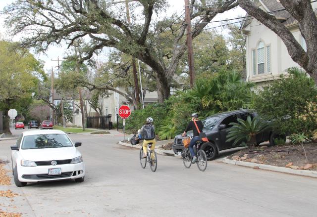 Cyclists on Graustark. Photo: Allyn West.