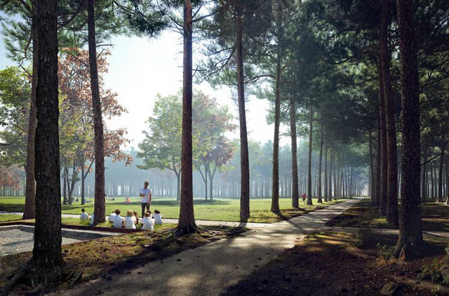 Rendering of Memorial Grove. Courtesy: Nelson Byrd Woltz.