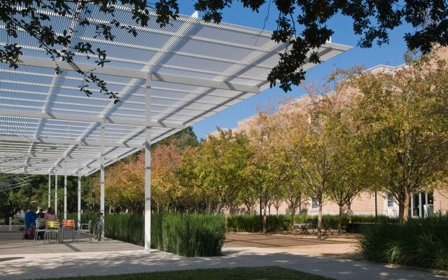 Brochstein Pavilion at Rice University. Courtesy: The Office of James Burnett.