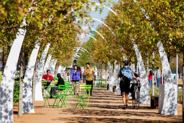 Klyde Warren Park in Dallas. Courtesy: Urban Land Institute.