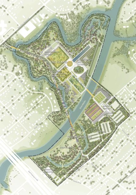 Houston Botanic Garden plan.
