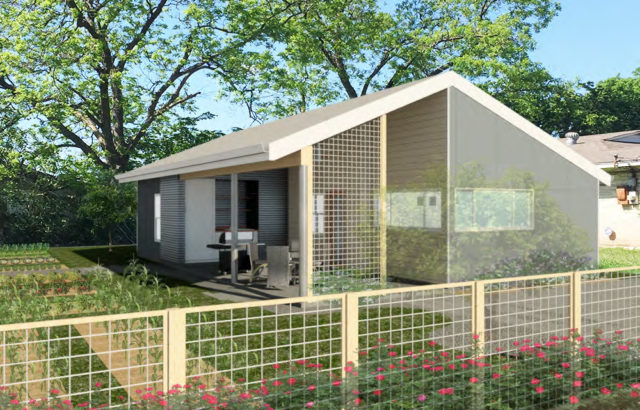 The Garden House designed by Sam Cuentas, Jose Martinez, and Claudia Tax for Fifth Ward. Courtesy.