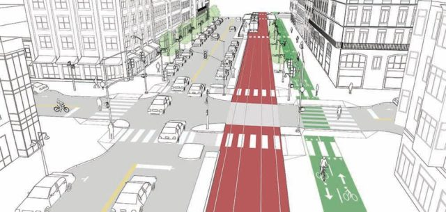 Drawing from NACTO Transit Street Design Guide.