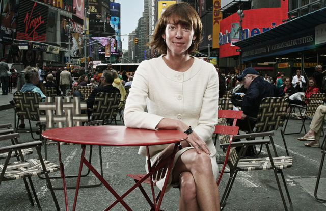 Sadik-Khan at Times Square. Photograph by Olugenrophotograpy.com.