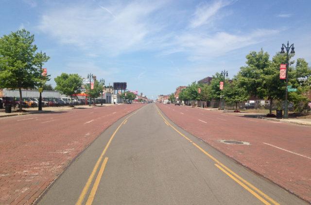 Michigan Avenue in Corktown, Detroit. Photo: Allyn West.
