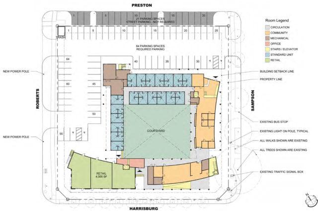 Ground floor plan of Harrisburg. Courtesy: GSMA.