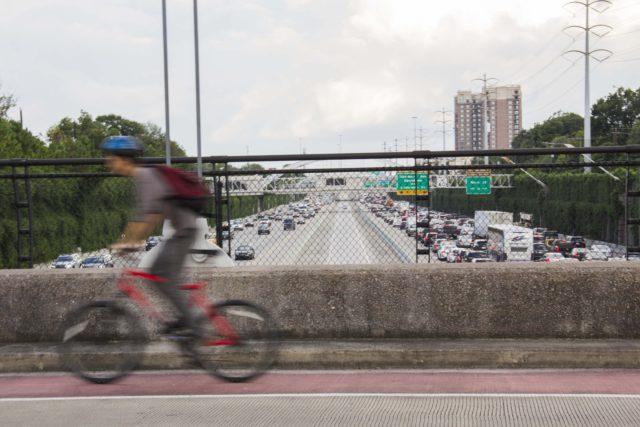 My commute vs. your commute. Photo: Geneva Vest