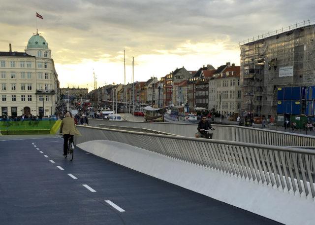 Bike infrastructure in Copenhagen. Photo: Kate Cairoli.