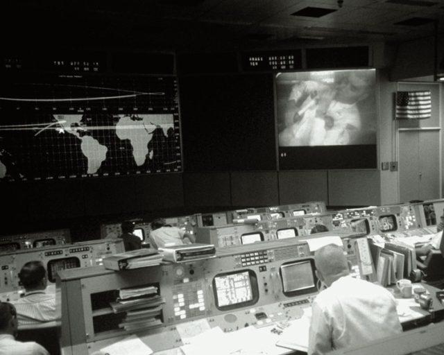 NASA mission control room. Photo: Houston Metropolitan Resource Center.