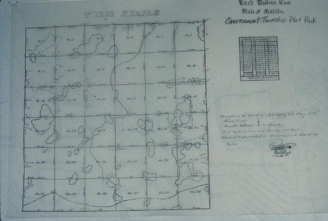 Orange County, Florida township map, c.1856. Photo: Everett Fly.